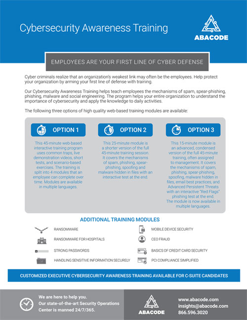 Abacode Cybersecurity Awareness Training