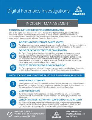 Abacode Digital Forensics Investigation