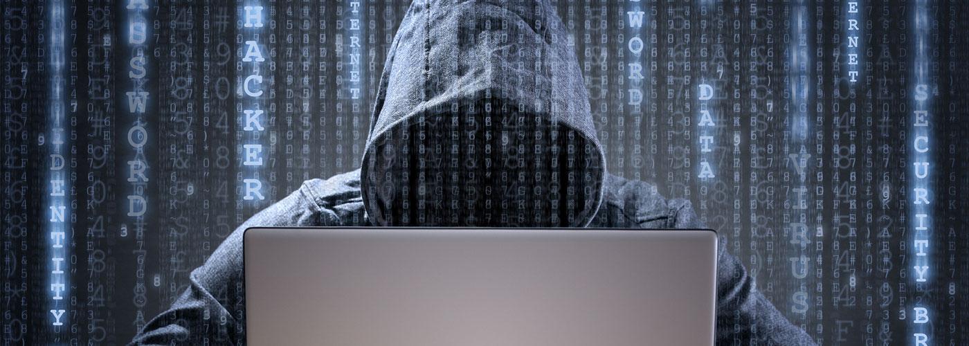 Computer hacker stealing data