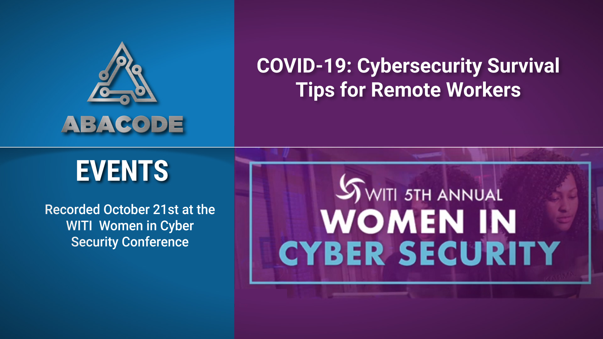 --WITI Women in Cyber Security Conference