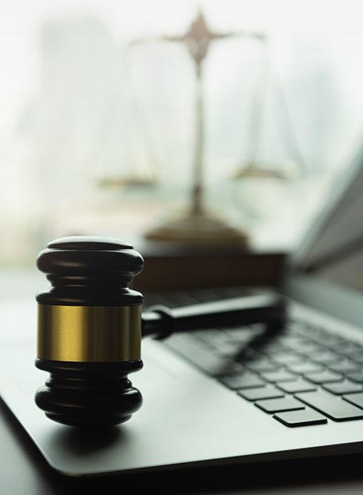 Legal - Gavel on Laptop