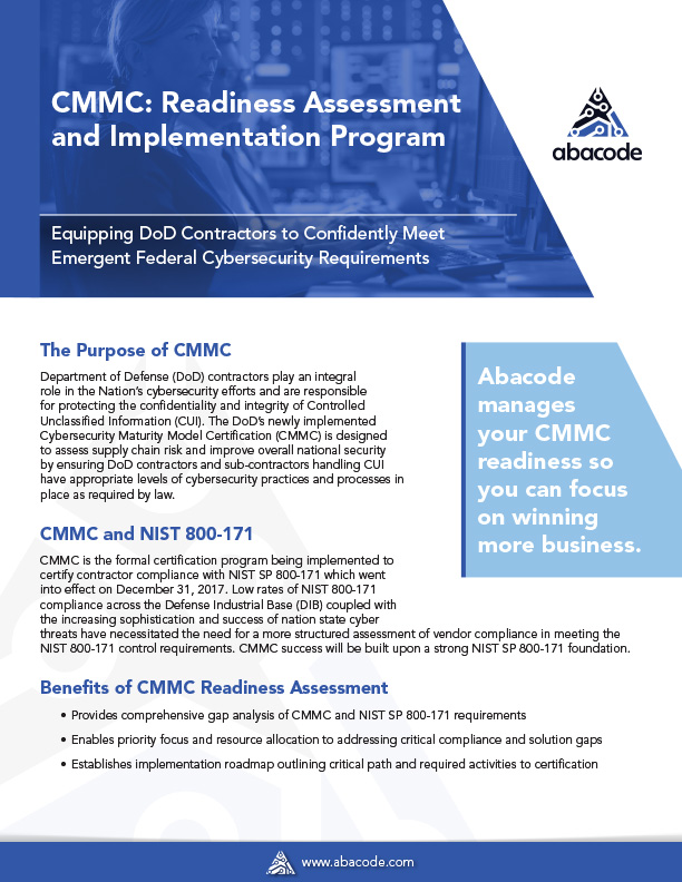 Abacode CMMC Readiness Assessment and Implementation Program