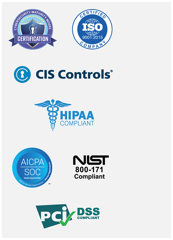 Certifications of Abacode Cybersecurity and Compliance